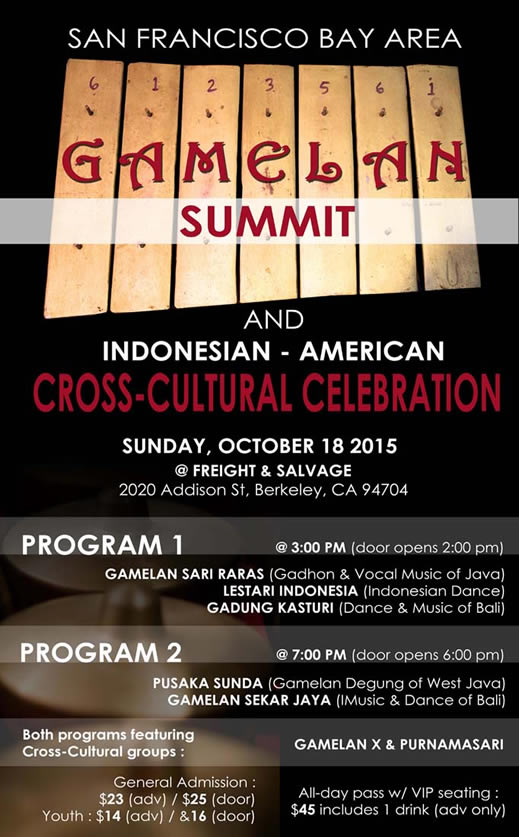 Gamelan Summit poster